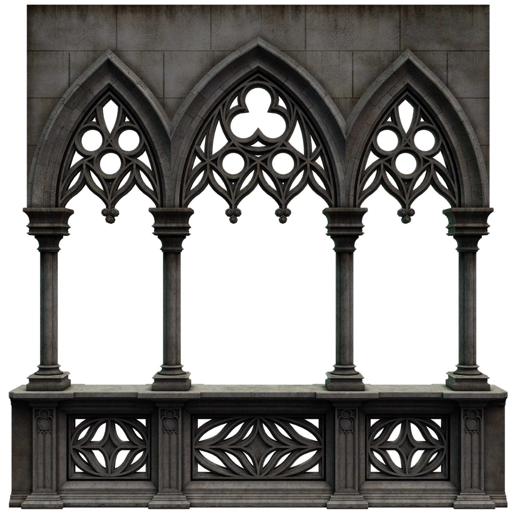 3D model of a window wall